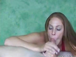 Redhead handjob and post Orgasmic torture