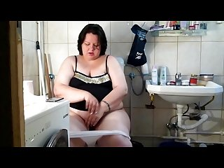 Bbw big poop on Toilet