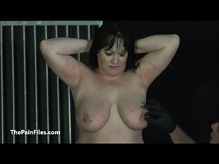 Bbw amateur slave chinas extreme needle bdsm and caged cattle prod electro