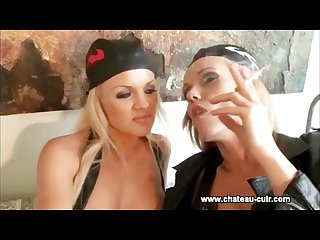 Lucy zara and frankie smoking lesbians part 2