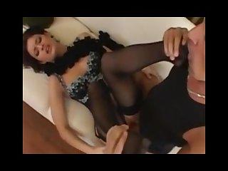 Lora craft stocking footjob anal sex
