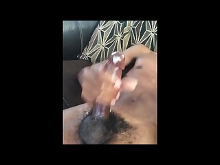 Making my black dick spit