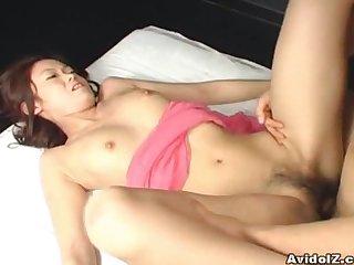 Kaoru mugi gets a nice creampie