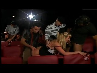 Stephanie lahay and blonde woman group sex in the cinema