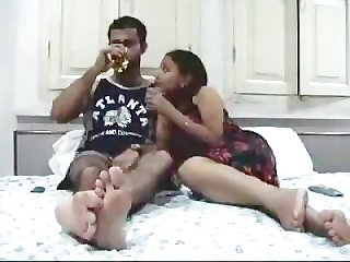 Indian couple on their honeymoon