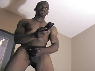 Sexy mature guy with a big dick jacking off