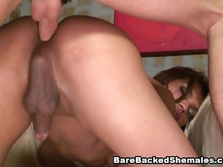 A perfect tranny barebacked fuck and suck scene