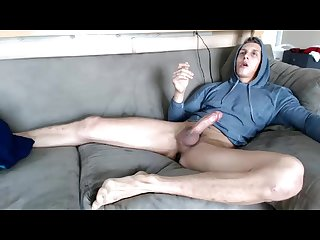 Webcam whore cums w buttplug in his ass big feet and hung 4