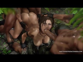 Lara croft sweaty jungle gangbang by mattdarey91sfm looped sound