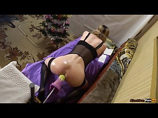 Christmas fuck 1 pony dildo fucked a big ass hot sissy