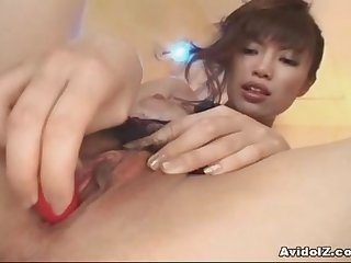 Japanese amateurs solo pussy show uncensored