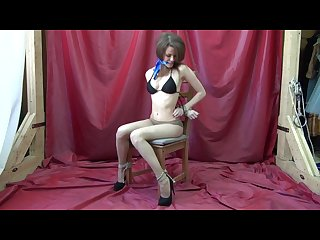 St anne chairtied in fishnets