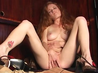 Hot redhead heather caroline masturbating