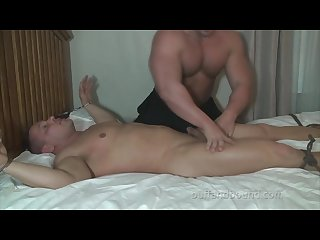 Big bodybuilder bound and tickled brock vinson