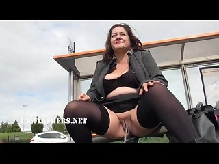 Chubby andreas public nudity and naughty mum flashing outdoors with british