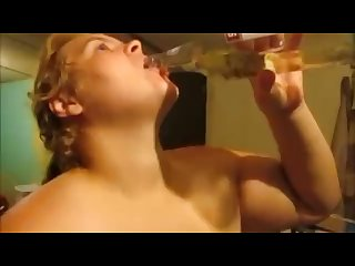 Wife drinks piss enjoy it whole bottle of piss from husband dick