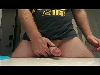 Thumper rugby cock cumming jerk off cum
