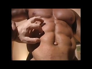 Bodybuilder shower Muscle worship nude posing
