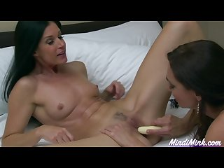 India summer mindi mink pussy eating and banana play
