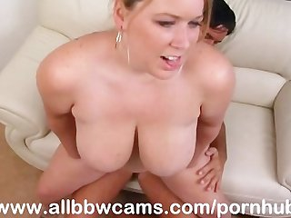 Horny bbw pussy wants her fat tits to cum explode part 2