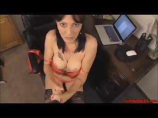 MILF In Black Stockings POV Jerk Instructions