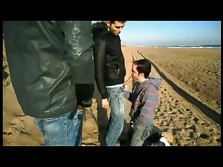 Beach winter fuck 3 some friend filming