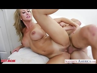 Busty blonde mom brandi love fucking