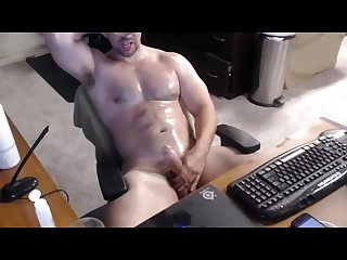 Muscular Cowboy messy multiple cums