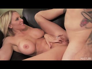 Julia ann gets hot milf pussy fucked before taking steaming load of cum