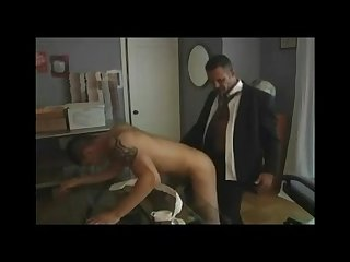 Hot daddy fucks boy in office
