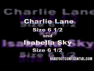 Charlie laine and Isabella sky enjoy feet