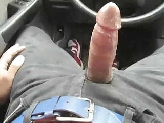 Hot b m in car