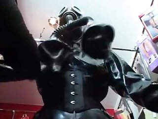 Fantastic full length fetish and latex film with great gas Mask fuck