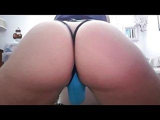 Shaking my ass blue thong