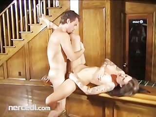 Midget fucks a girl with tattos and she loves his cock