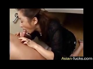 Asian mom gets her hands on boy uncensored asian fucks
