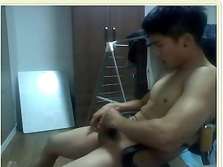 Cbt hot asian muscle stud fucks white