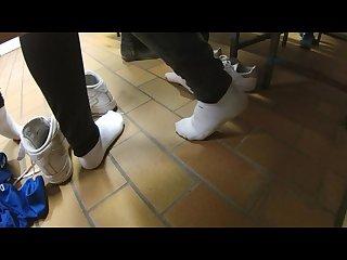 Unknown filming german girls teens on gym locker room