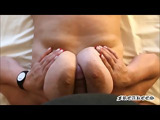She make a great Titjob and then sucks his cock freakees Titjob