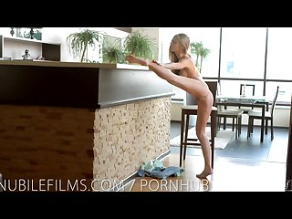 Nubile films stunning blonde ebbi cums for you
