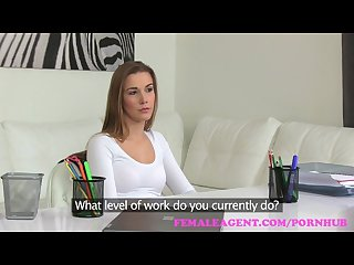 Femaleagent beautiful new agents first casting is a sexual success
