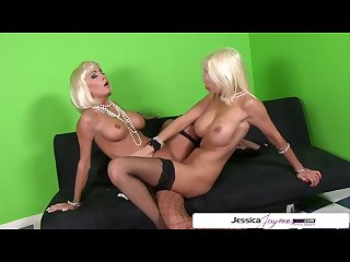 Jessica Jaymes and Puma Swede lesbian fuck fest, big booty & big boobs