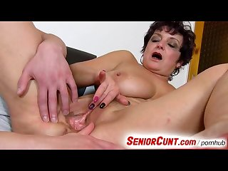 Old cunt on close ups dirty pussy spreading with lady greta