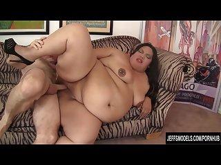 Wide Body Brunette Gets Her Fat Twat Screwed Deep