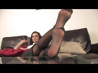 Nylon feet pov