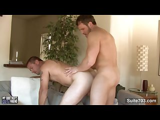 Brother\'s friend Johnny Donavan gets mouth and ass fucked by Nash Lawler