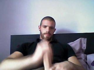 Hot otter jerking his big dick