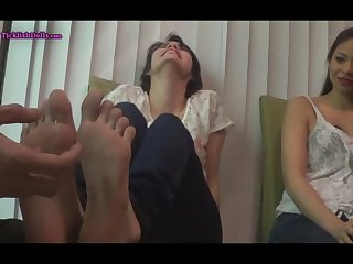 Sisters nikki and paris have ticklish feet