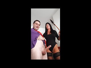Ballbusting donna africa kicks andrea dipr in the balls till he cums
