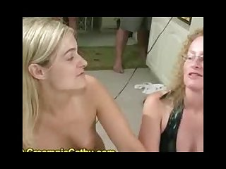 Total amateur facial cum swapping